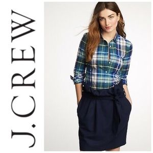 J. Crew Quincy Plaid The Boy Shirt Size 4/ Small